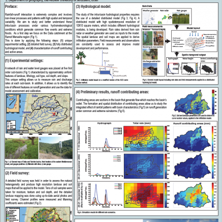 Intra-basin hydrological processes during flow events under various hydrometeorological conditions