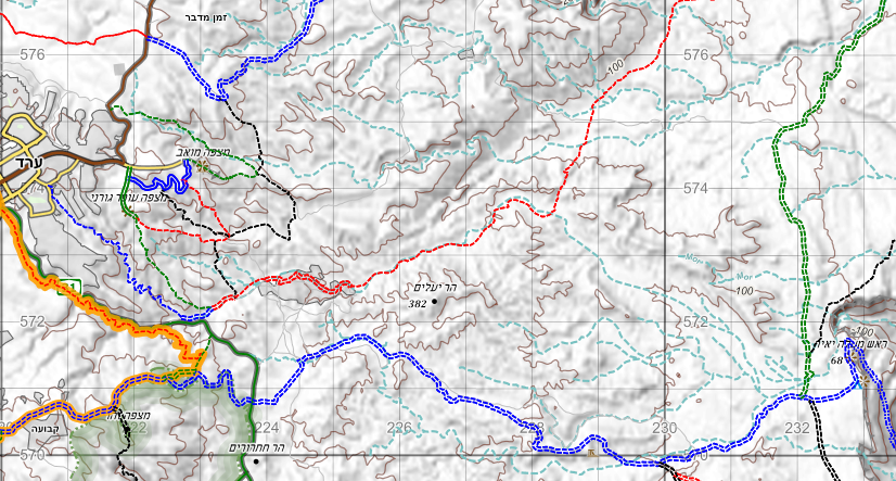 Example hiking map