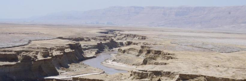 Arava stream - Helicopter ride over the Dead Sea and Arava stream